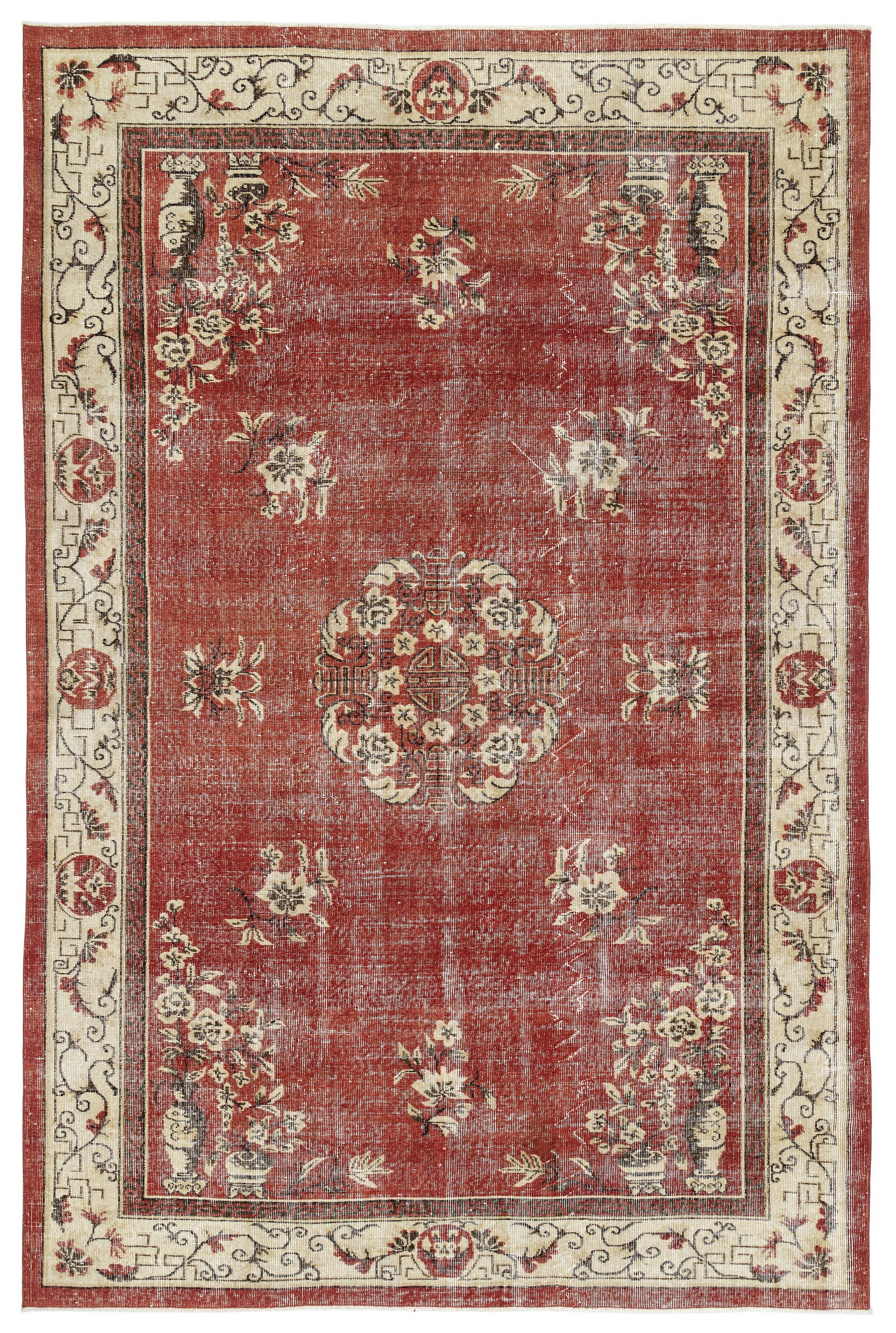 Naturel Over Dyed Vintage Rug 6'11'' x 10'6'' ft 211 x 319 cm