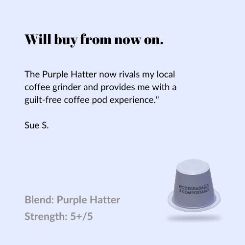 Purple Hatter - Compostable