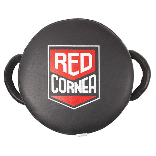Round Twin Handle Hit Shield - Black