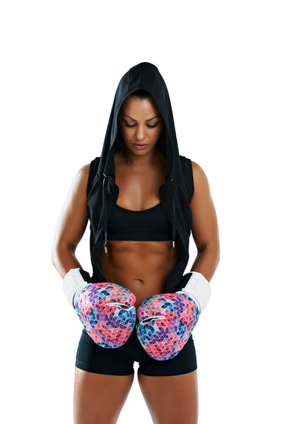 Silver Label Womens 12oz Boxing Gloves - Mosaic 2