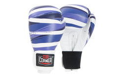 Spar Womens Boxing Gloves -  Stripes Blue