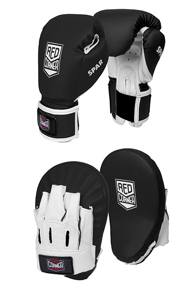 Spar Jnr Focus Kit with Boxing Gloves - Black