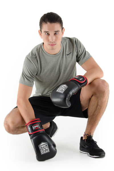 Fight Mens Boxing Glove - Black