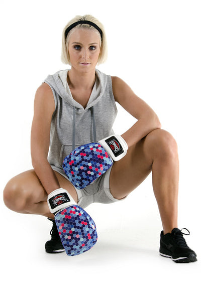 Silver Label Womens 12oz Boxing Glove - Blue Hex
