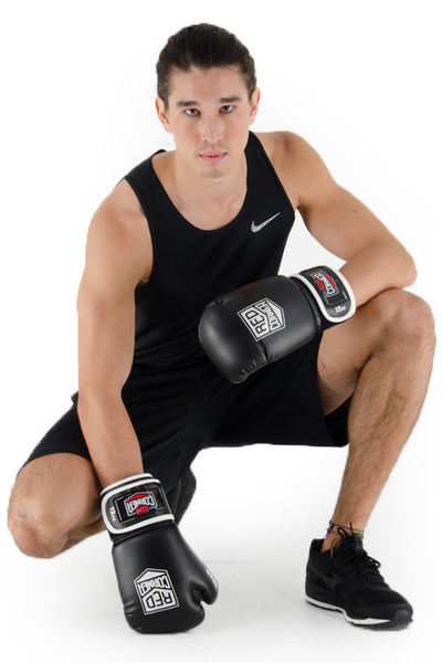 Spar Mens Boxing Glove - Black