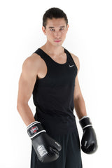 Spar Mens Focus Kit with Boxing Gloves - Black