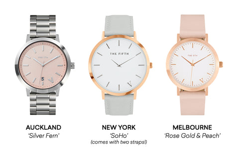 The 5TH Watches Styling Match With Pink