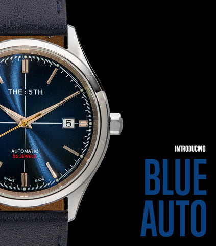 The 5TH Automatic Watch - Bilbao Blue