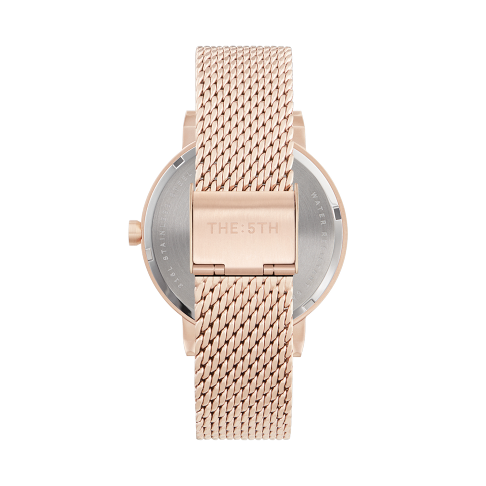 rose gold watch with interchangeable bracelet
