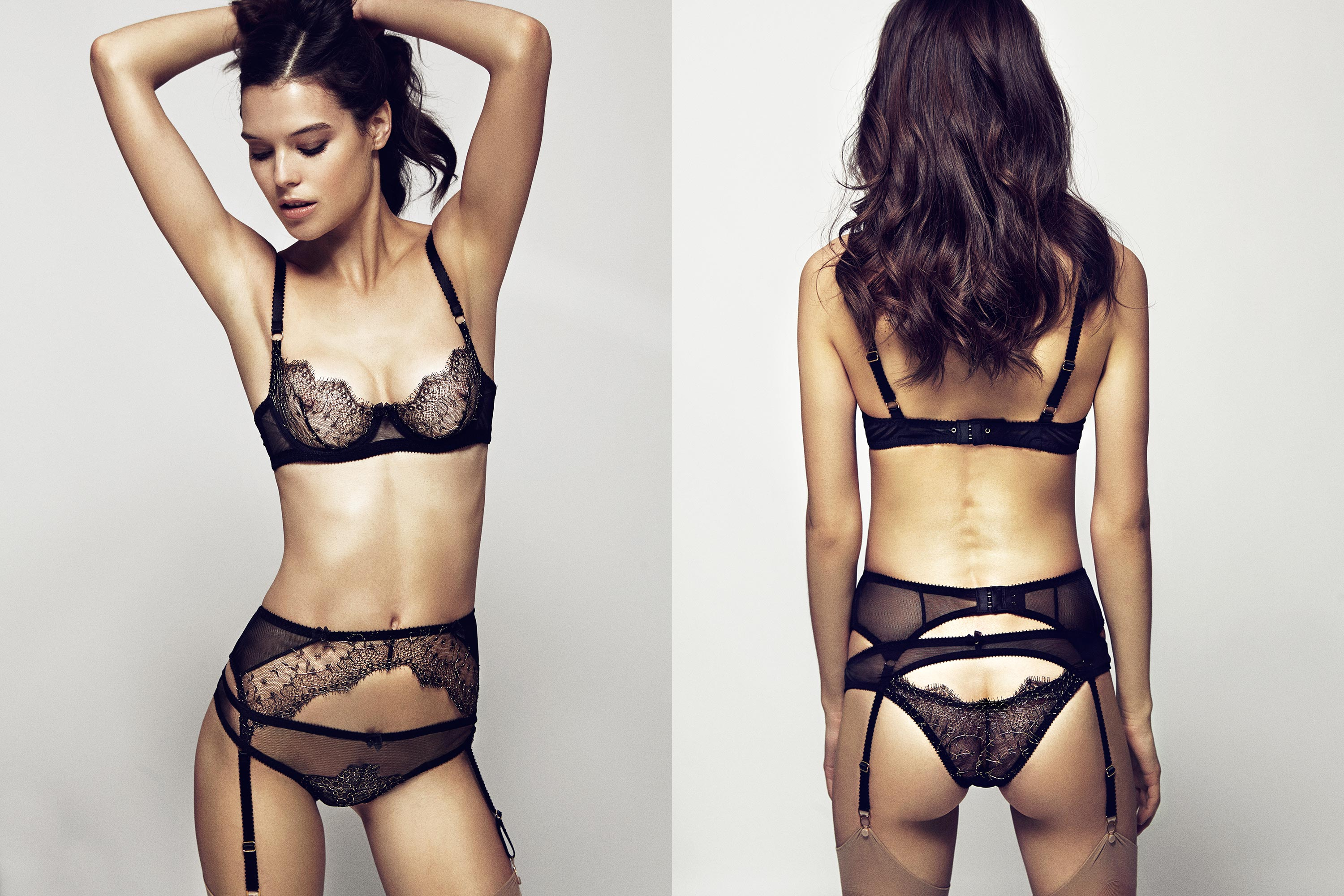 Evie Bra, Suspender & Brief by Edge o' Beyond