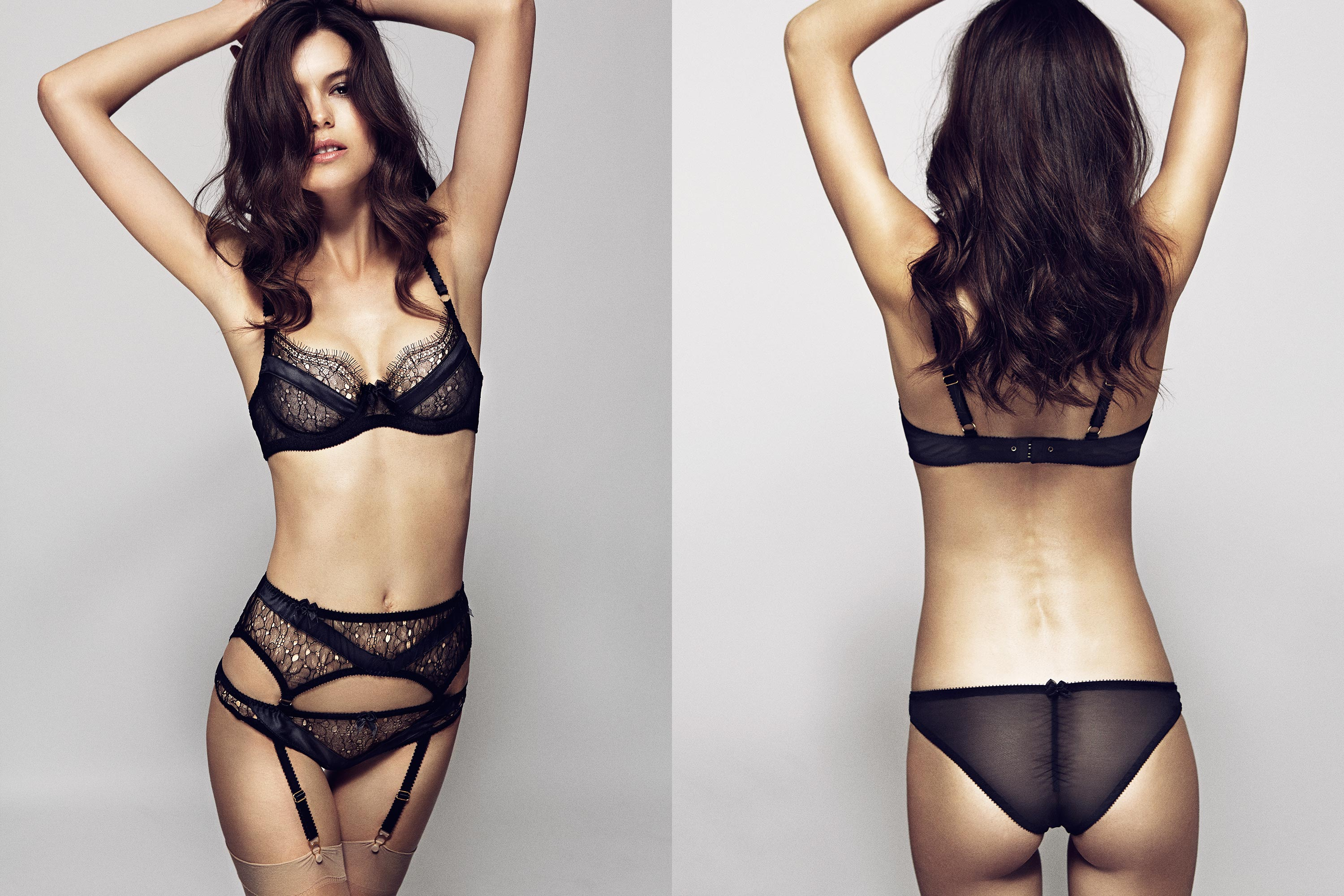 Lyvie Bra, Suspender & Brief, Lyvie Bra & Brief by Edge o' Beyond