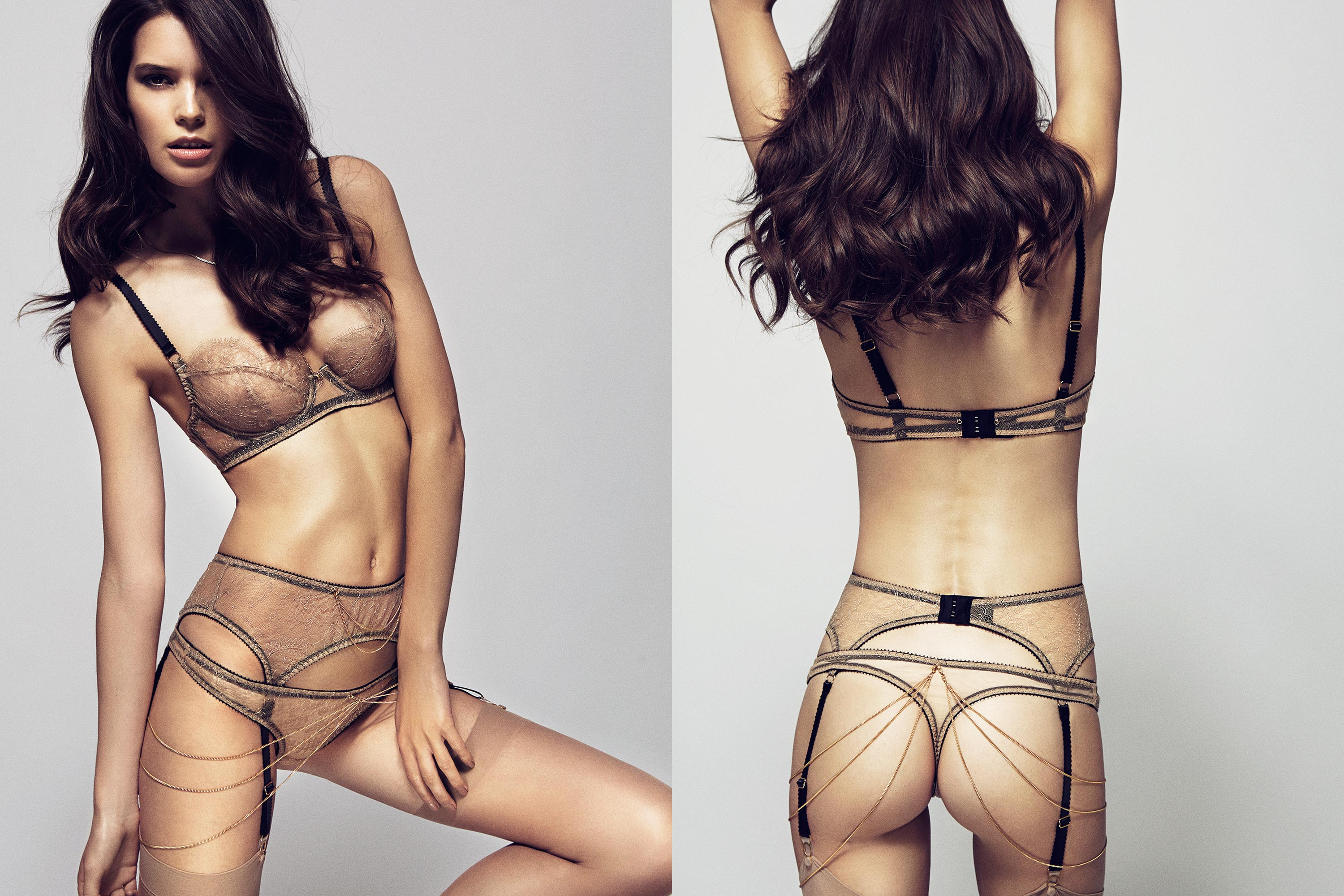 Naomi Bra, Suspender & Thong by Edge o' Beyond
