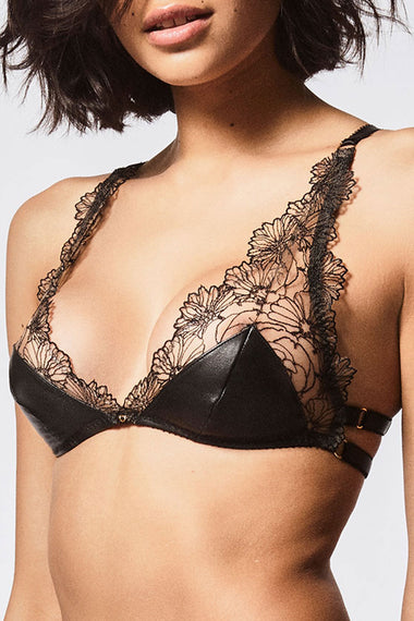 Edge o' Beyond Leather Maria Bra