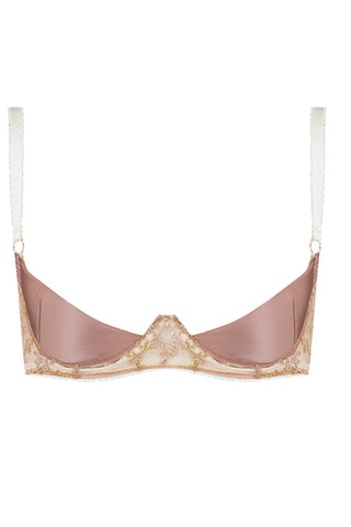 Edge o' Beyond Olivia quarter cup bra - front view