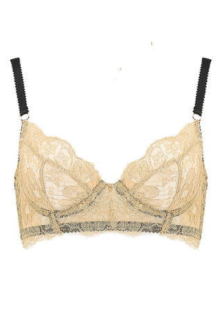 Edge o' Beyond Gold Ahlan Lace Bra