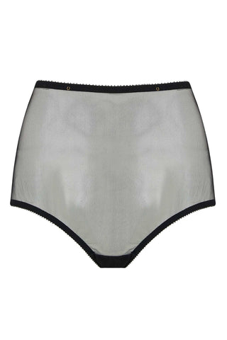 Edge o' Beyond sheer Marinette high waist brief is the perfect blank canvas underwear set for our gold jewellery.