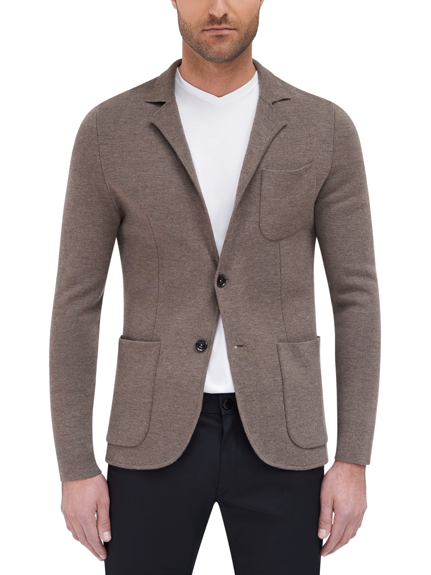 Hull Knitted Blazer - Brown