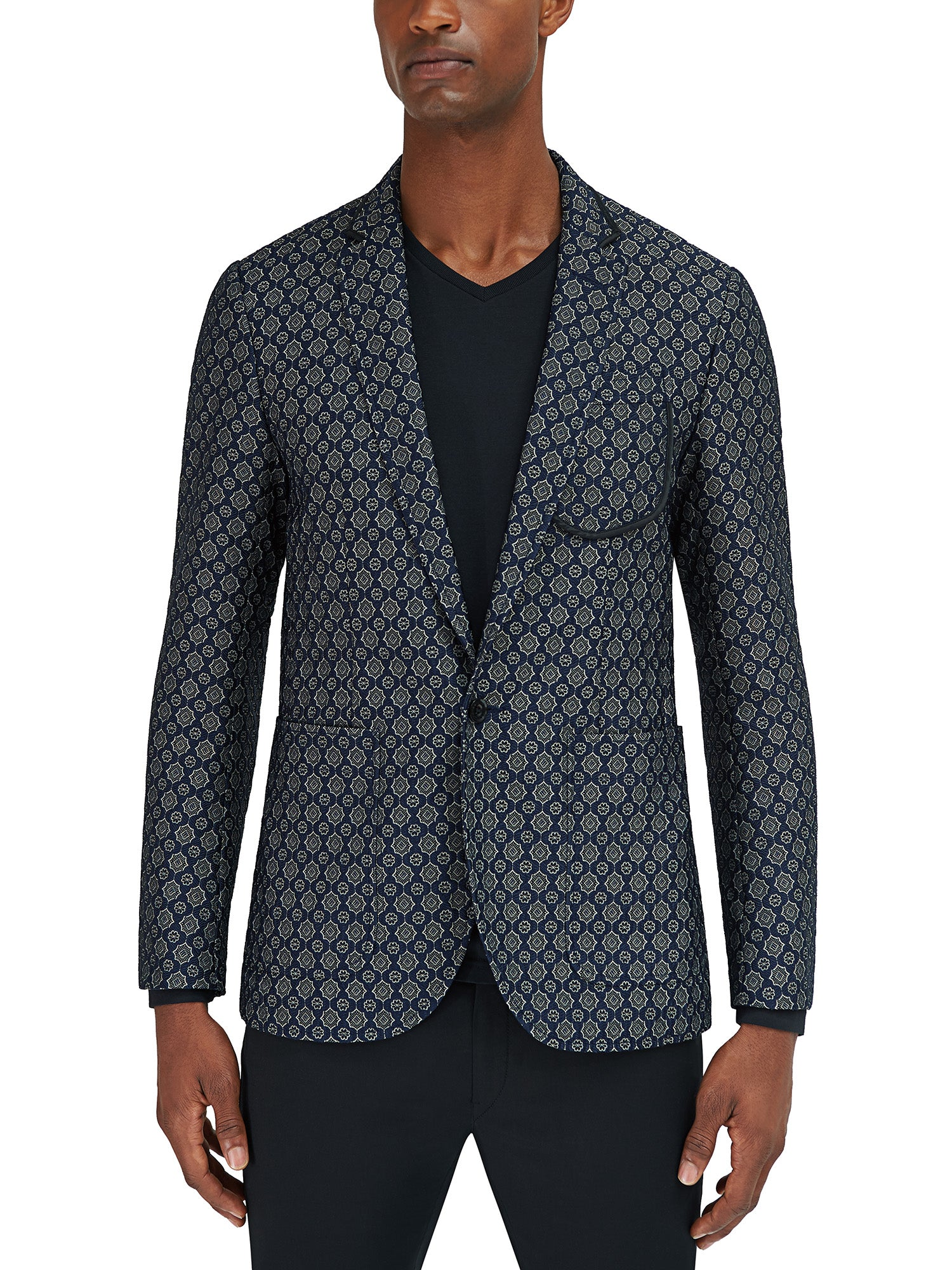 Parting Jacket - Navy Floral