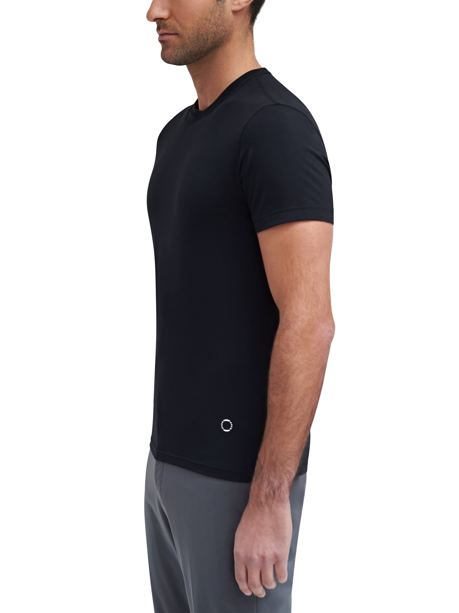 Voyager Crewneck T-Shirt - Black - EFM Menswear Engineered For Motion