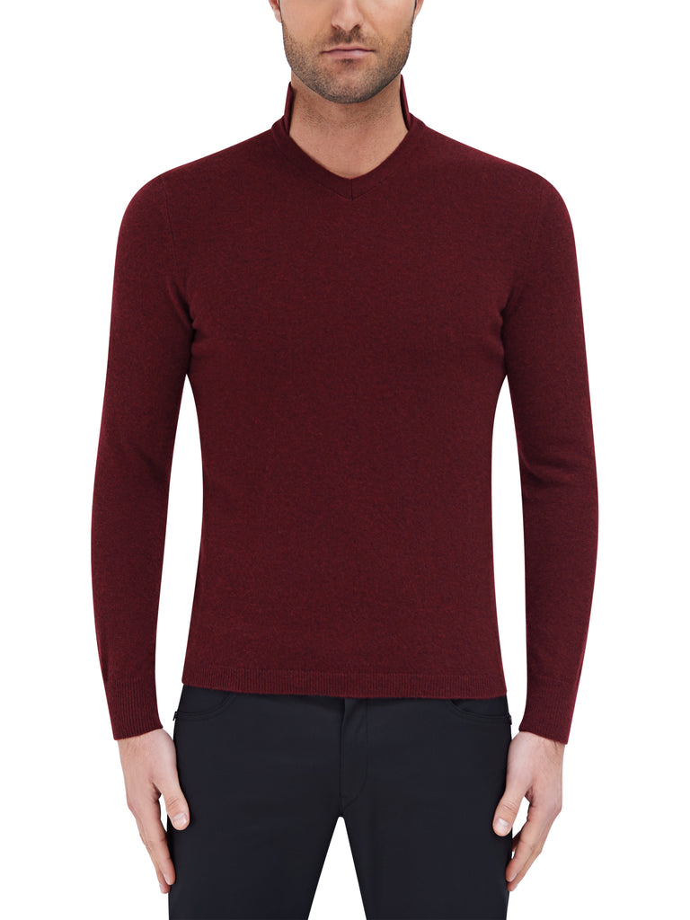 Opulent L/S Polo Sweater - Burgundy