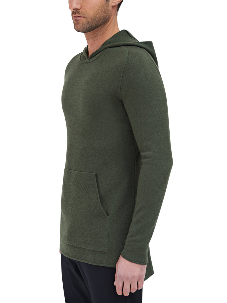 Converge Hooded Pullover Sweater - Deep Green