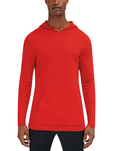 Converge Hooded Pullover Sweater - Deep Orange
