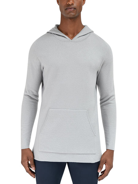 Converge Hooded Pullover Sweater - Light Grey