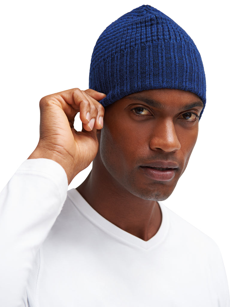 Expedition Knitted Hat - Blue - EFM Menswear Engineered For Motion