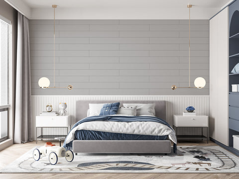 Best Peel and Stick Wall Decor Board. Dove Gray Solid Renoboard for neutral and lively kids room interior design