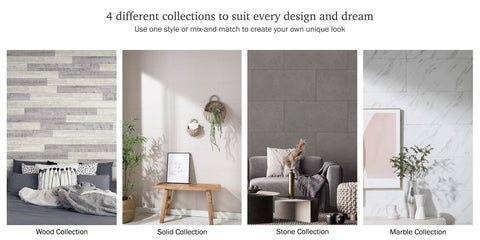 peel and stick decorative wall renoboard - various design collections