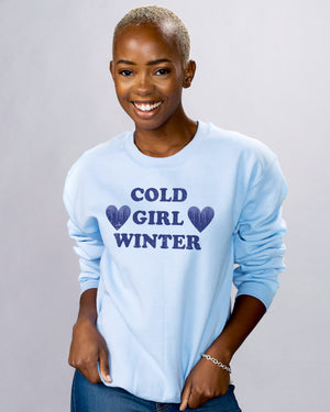 Cold Girl Winter Sweatshirt - Femfetti