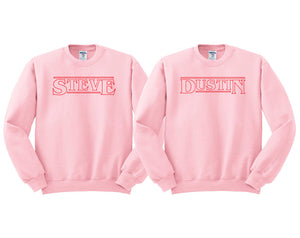 Steve and Dustin BFF Strange Things Sweatshirt Set - Femfetti