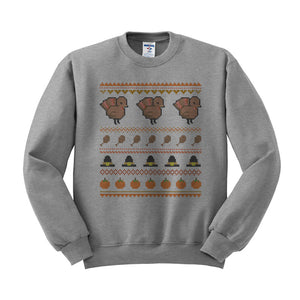 Ugly Turkey Sweater Crewneck Sweatshirt - Femfetti