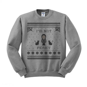 I'm Not Perky Wednesday Addams Crewneck Sweatshirt - Femfetti
