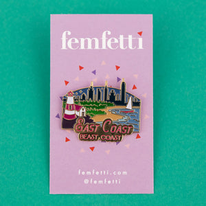 East Coast Enamel Pin - Femfetti