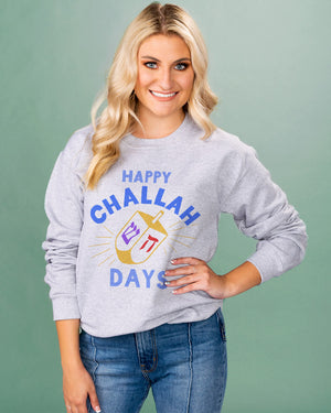 Happy Challah Days Crewneck Sweatshirt - Femfetti