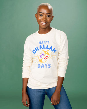 Happy Challah Days Long Sleeve Tee - Femfetti