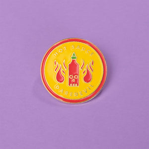 Hot sauce Daredevil Enamel Pin - Femfetti