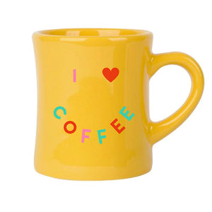 I Love Coffee Diner Mug - Femfetti