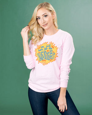 Just Here For The Latkes Long Sleeve Tee - Femfetti