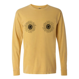 Sunflower Long Sleeve Tee - Femfetti