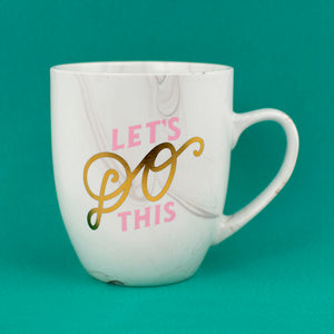 Let's Do This Marble Mug - Femfetti