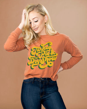 Turkey, Pie, And The Dog Show Long Sleeve Shirt