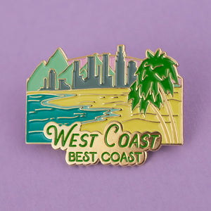West Coast Enamel Pin - Femfetti