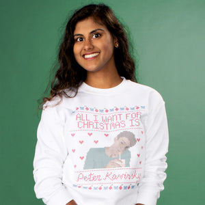 All I Want For Christmas Is Peter Crewneck Sweatshirt - Femfetti