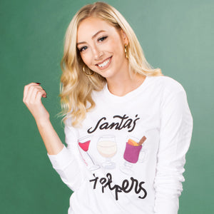 Santa's Cocktail Helpers Long Sleeve Tee