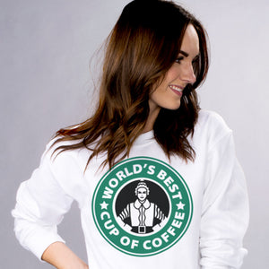 Best Cup of Coffee Sweatshirt - Femfetti