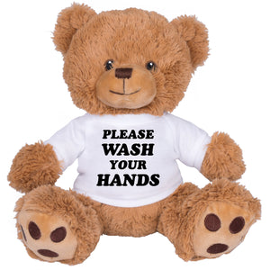 Please Wash Your Hands Brown Bear - Femfetti