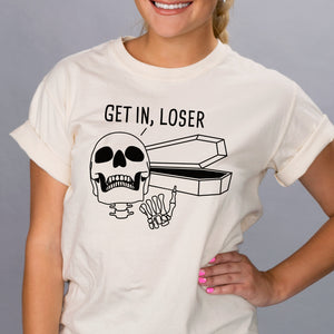 Get In Loser Coffin Shirt - Femfetti