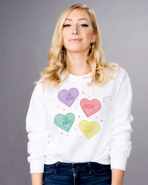 Anti-Valentines Hearts Sweatshirt